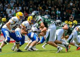 Dragons DB #25 Paul Schachner mit der Interception